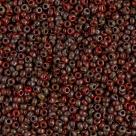 10 Gramm Miyuki Seed Beads 11-4513 Opaque Red Picasso