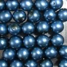 #03 20 Stück - 8,0 mm Glaswachsperlen - dk blue