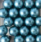 #06 20 Stück - 10,0 mm Glaswachsperlen - petrol/teal