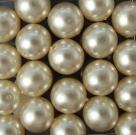 #03 20 Stück - 10,0 mm Glaswachsperlen - dk cream