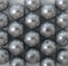 #04 20 Stück - 10,0 mm Glaswachsperlen - gray