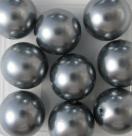 #01 10 Stück - 14,0 mm Glaswachsperlen - gray