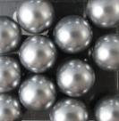 #04 20 Stück - 12,0 mm Glaswachsperlen - gray