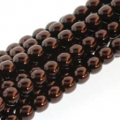 1 Strang - 12,0 mm Glaswachsperlen - dk bronze pearl