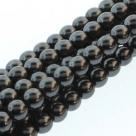 1 Strang - 10,0 mm Glaswachsperlen - hematite