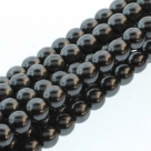 1 Strang - 08,0 mm Glaswachsperlen - hematite