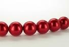 15 Stück - 14,0 mm Glaswachsperlen - red