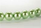 15 Stück - 14,0 mm Glaswachsperlen - mint green