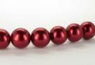 15 Stück - 14,0 mm Glaswachsperlen - dk red
