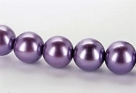 15 Stück - 14,0 mm Glaswachsperlen - lilac