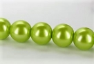 15 Stück - 14,0 mm Glaswachsperlen - lt olivine