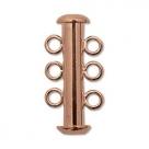 1 Schiebeverschluss 3 Ösen copper