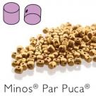 00030-01740 - 25 Stück - Minos Par Puca - 2,5x3,0 mm - Bronze Gold Matte