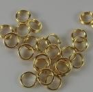 20 Stück Spaltringe 6,0 mm - goldfarben