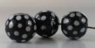 1 Stück Lampwork Bead Charly Chaplin -  ± Ø12x14 mm