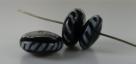 1 Stück Lampwork Bead Stripe -  ± Ø7x17 mm