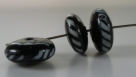 1 Stück Lampwork Bead Stripe II -  ± Ø8x16 mm