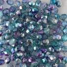 #102.05 50 Stück - 4,0 mm Glasschliffperlen - Crystal Half Labrador - Dual Coated - Pink/Blue
