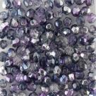 #102.04 50 Stück - 4,0 mm Glasschliffperlen - Crystal Half Labrador - Dual Coated - Pink/Lilac