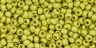 10 g TOHO Seed Beads 11/0 TR-11-PF590 F - Permanent Finish - Matte Galvanized Lemon Gold (A,C,D)
