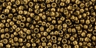 10 g TOHO Seed Beads 11/0 TR-11-PF594 - Permanent Finish - Galvanized Medal Bronze (A,C,D)