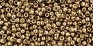10 g TOHO Seed Beads 11/0 TR-11-PF593 - Permanent Finish - Galvanized Copper Rose (Almond) (A,C,D)