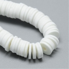 1 Strang Polyclay Katsuki Beads 6 mm - White