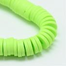 1 Strang Polyclay Katsuki Beads 6 mm - Green Yellow