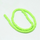 1 Strang Polyclay Katsuki Beads 6 mm - Green Yellow