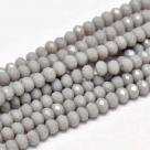 145 facetierte Rondelle 3*4mm Gray