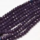 145 facetierte Rondelle 3*4mm Deep Lilac