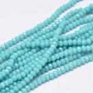 145 facetierte Rondelle 2*3mm Pale Turquoise