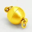 1 Kugel-Magnet-Verschluss Ø 10x17 mm Gold