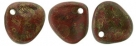 #09b 50 Stck. Rose Petals 8*7mm - red copper picasso
