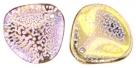 #13.01 25 Stck. Rose Petals 14*13mm -  Gold - Hot Pink