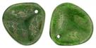 #15.01 25 Stck. Rose Petals 14*13mm -  Milky Emerald - Moon Dust