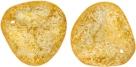 #11.02 25 Stck. Rose Petals 14*13mm -  Crystal - Honey Shimmer