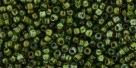10 g TOHO Seed Beads 11/0 TR-11-Y318 - HYBRID Tr. Peridot - Picasso
