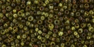 10 g TOHO Seed Beads 11/0 TR-11-Y315 - HYBRID Tr. Lime Green - Picasso