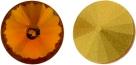 1 Glas-Rivoli Ø 14 mm - Topaz