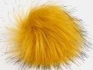 1 Stück Faux Fur PomPom - gold black