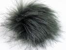 1 Stück Faux Fur PomPom - grey shades