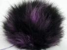 1 Stück Faux Fur PomPom - lilac black