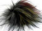 1 Stück Faux Fur PomPom - red grey gold black