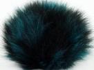 1 Stück Faux Fur PomPom - turquoise black