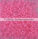 10 g TOHO Seed Beads 11/0 TR-11-0970 - Inside-Color Frosted Crystal/Carnation Lined (E,F)