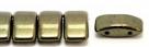 #03.04 - 10 Stück Zweiloch-Glasperle 9x17 mm - Jet Red Luster