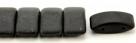 #03.06 - 10 Stück Zweiloch-Glasperle 9x17 mm - Jet Matte