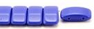 #04.00 - 10 Stück Zweiloch-Glasperle 9x17 mm - Opaque Sapphire