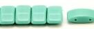 #05.00 - 10 Stück Zweiloch-Glasperle 9x17 mm - Opaque Green Turquoise